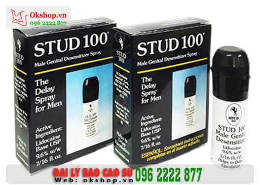 Xịt Hỗ Trợ Kéo Dài Thời Gian Quan Hệ Cao Cấp Stud 100